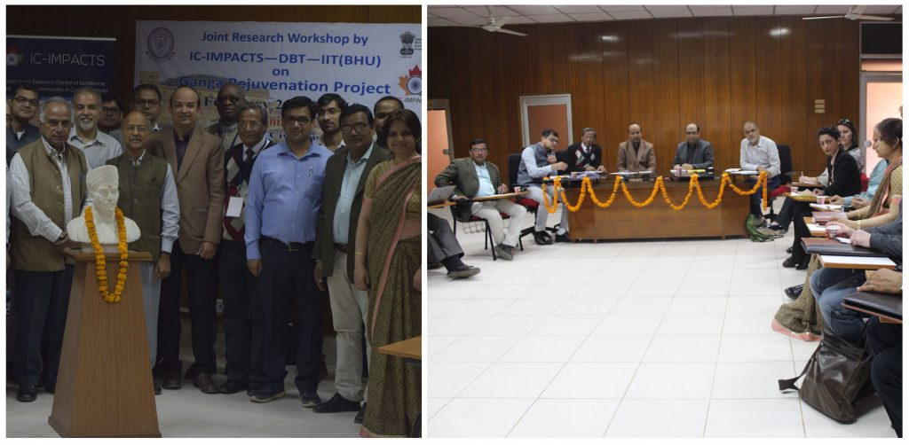 Day 2 of the workshop in Varanasi, with representatives from IIT BHU, DBT and IC-IMPACTS.