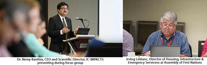 Dr. Nemy Banthia and Irving Leblanc at First Nations Focus Group